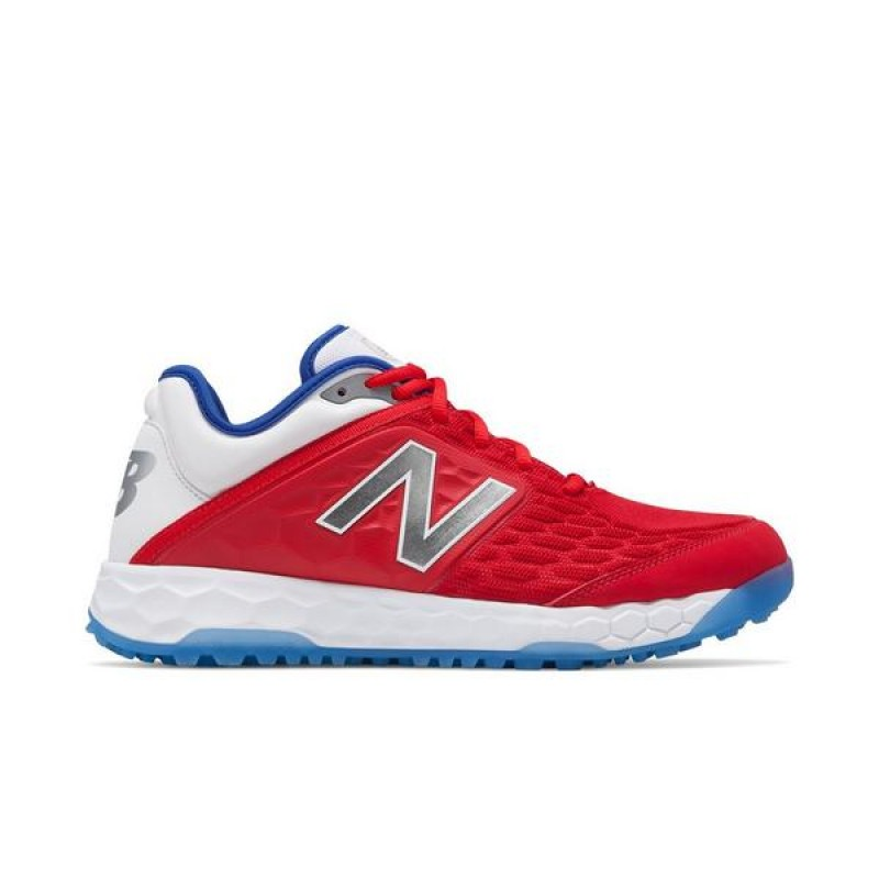 "New Balance Fresh Foam 3000v4 LE Turf ""Rouge"" Homme Baseball Chaussures"