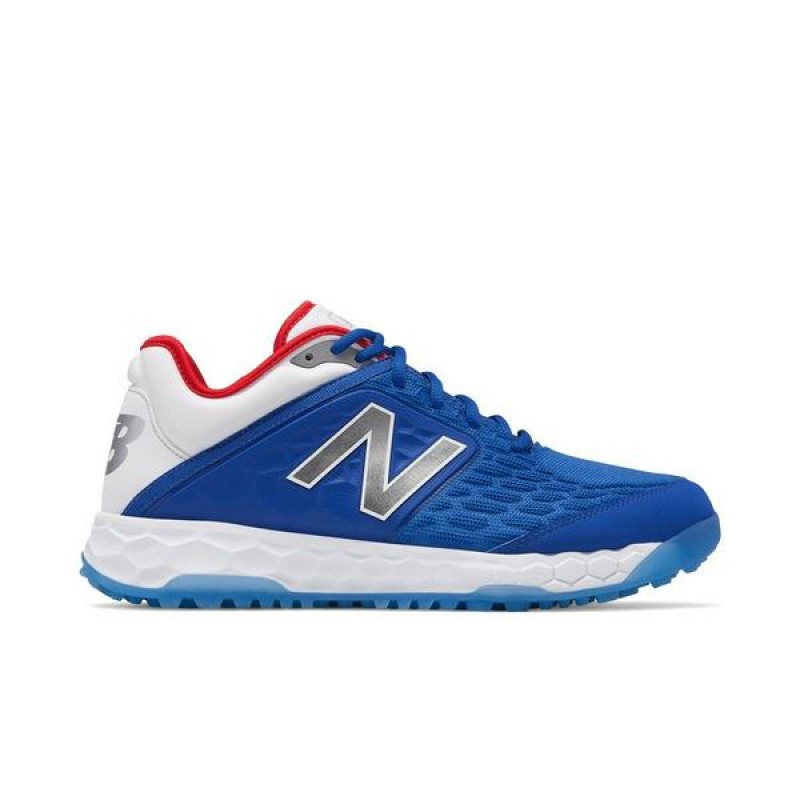 "New Balance Fresh Foam 3000v4 LE Turf ""Bleu"" Homme Baseball Chaussures"