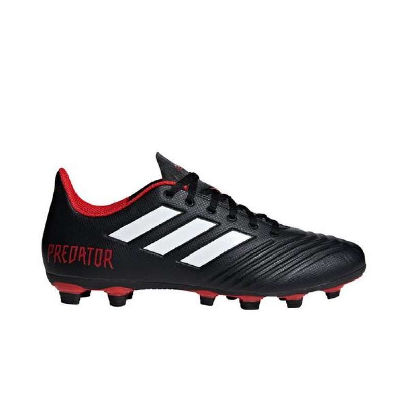 Adidas Predator 18.4 FxG TM MD Homme Soccer Cleat Noir/Blanche/Rouge
