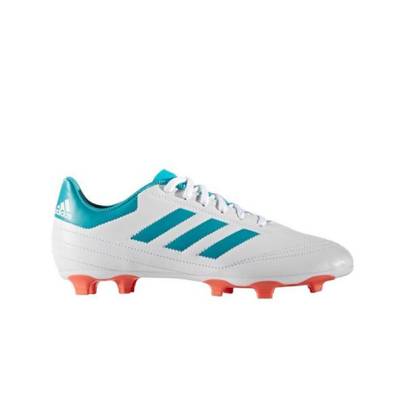 "Adidas Goletto VI FG ""Blanche/Teal"" Femme Soccer Cleats"