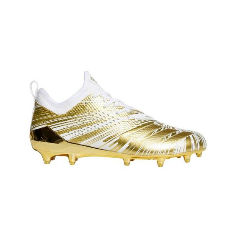 "Adidas adizero 5-Star 40 Uncaged ""Blanche/Or"" Homme Cleats"