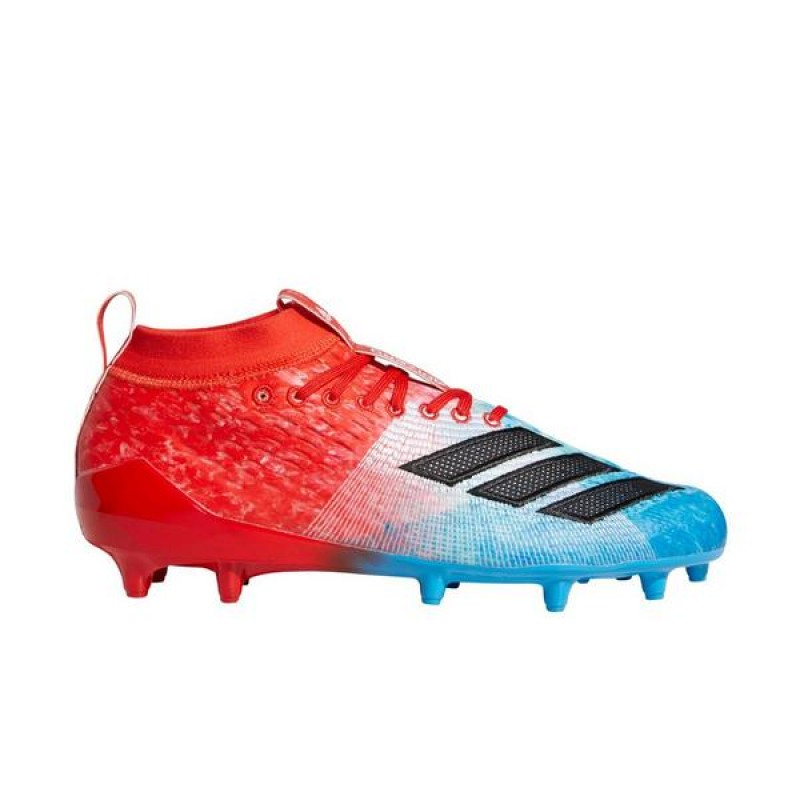 "Adidas AdiZero 8.0 ""Shock Cyan/Rouge"" Homme Football Cleat"