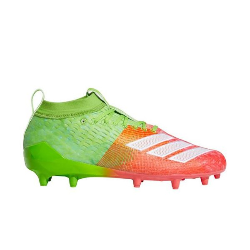 "Adidas AdiZero 8.0 ""Vert/Shock Rouge"" Homme Football Cleat"
