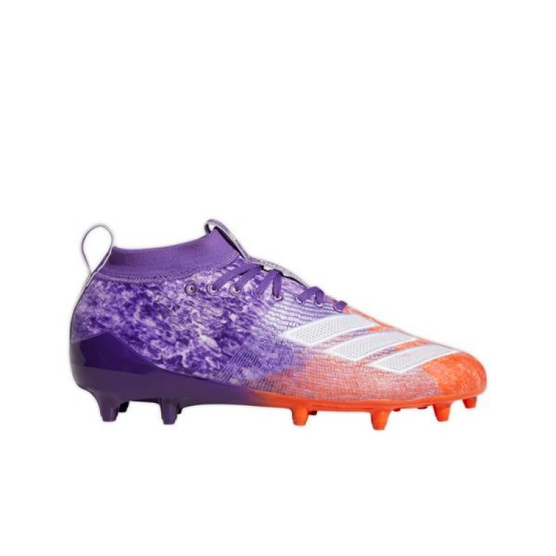 "Adidas AdiZero 8.0 ""Pourpre/True Orange"" Homme Football Cleat"