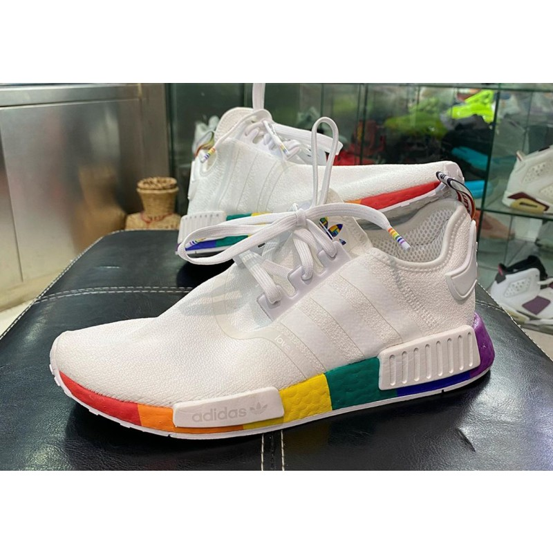 "Adidas NMD R1 ""Pride"" Blanche/Blanche/Blanche FY9024"