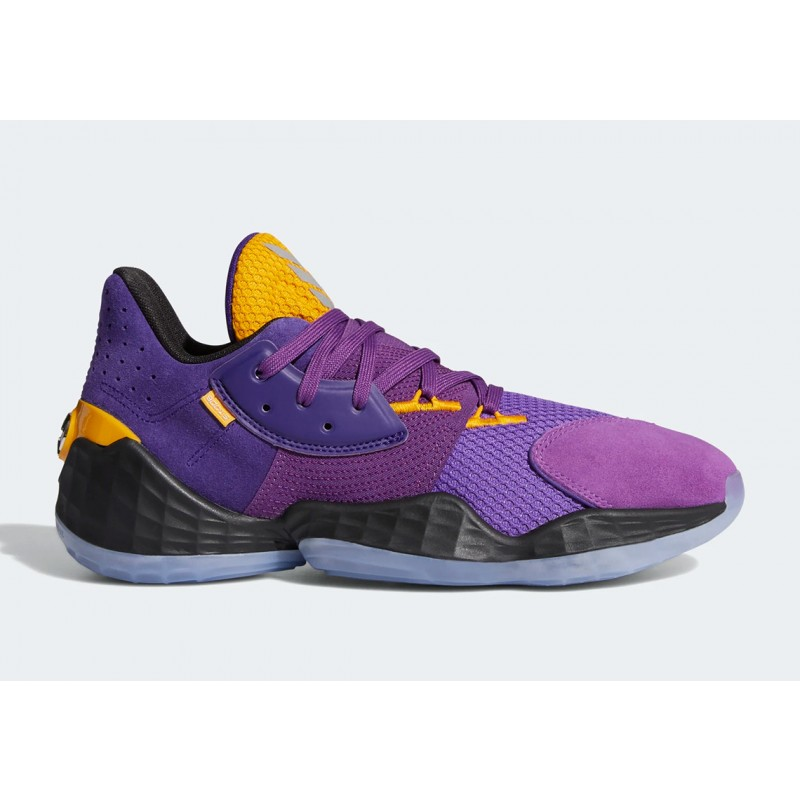 "Adidas Harden Vol. 4 ""Su Casa"" Pack Lakers Collegiate Pourpre/Collegiate Gold/Active Pourpre FW7496"