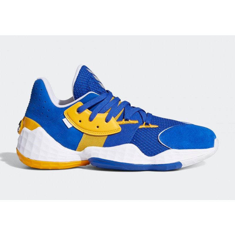 "Adidas Harden Vol. 4 ""Su Casa"" Pack Warriors Royal Bleu/Collegiate Gold/Blanche FW7497"