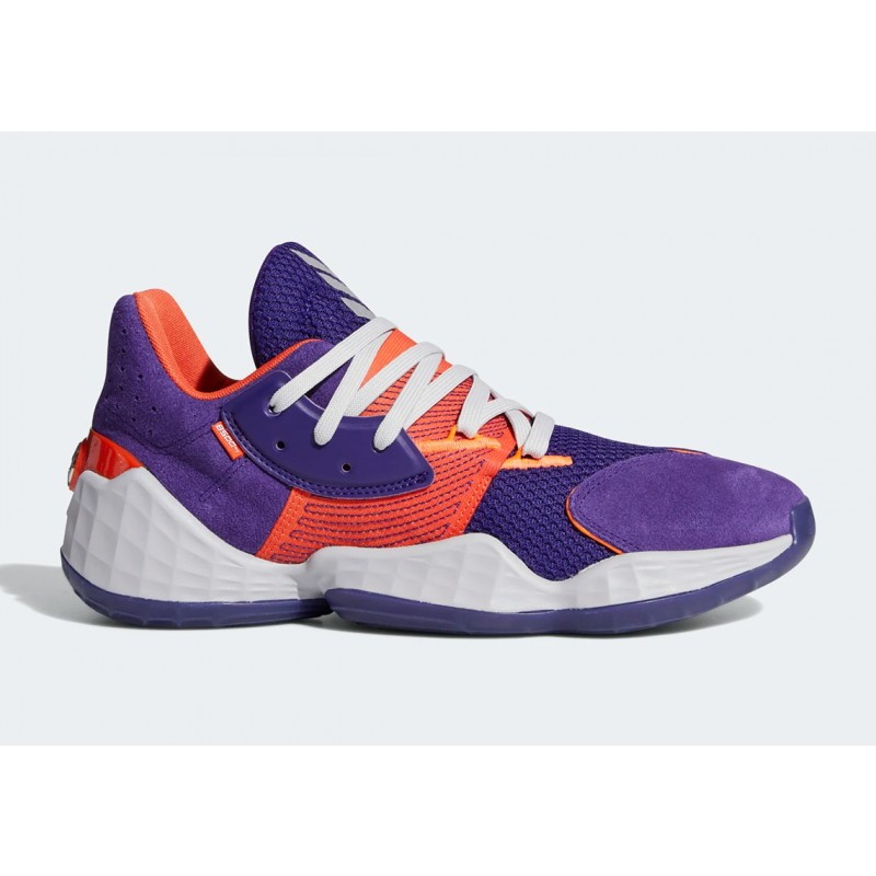 "Adidas Harden Vol. 4 ""Su Casa"" Pack Suns Collegiate Pourpre/Orange/Gris Three FW7495"