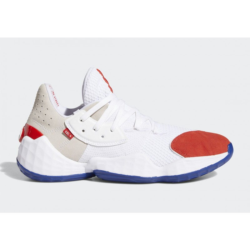 "Adidas Harden Vol. 4 ""Question"" Blanche Bleu Rouge FV5598"