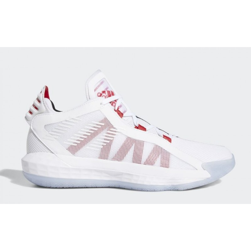 """Adidas Dame 6 """"Dame Time"""" Blanche/Rouge/Noir EH2069"""