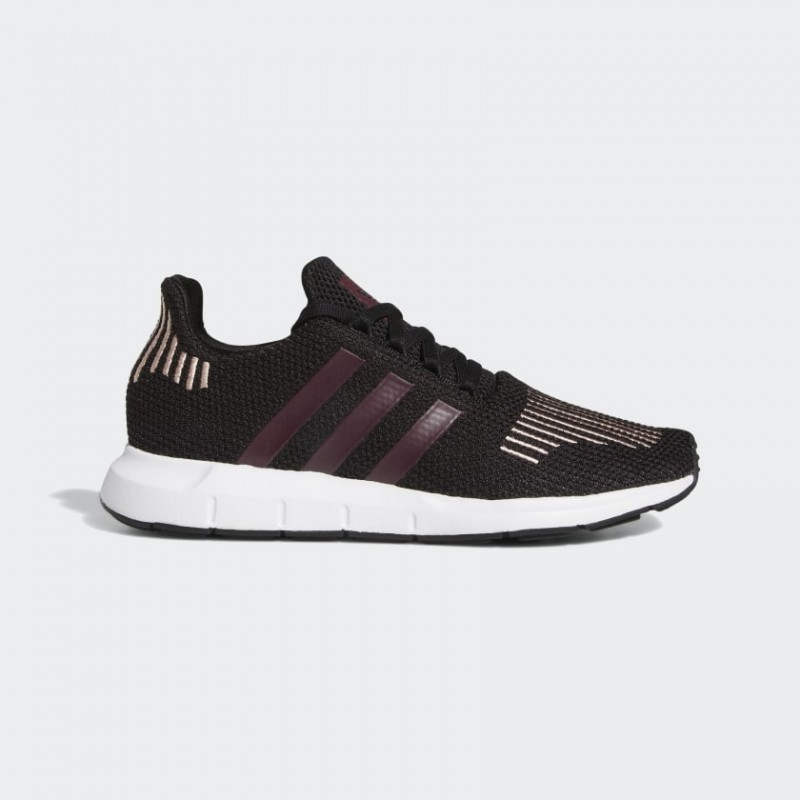 Adidas Swift Run Chaussures Noir/Maroon/Rose Spirit FU7769