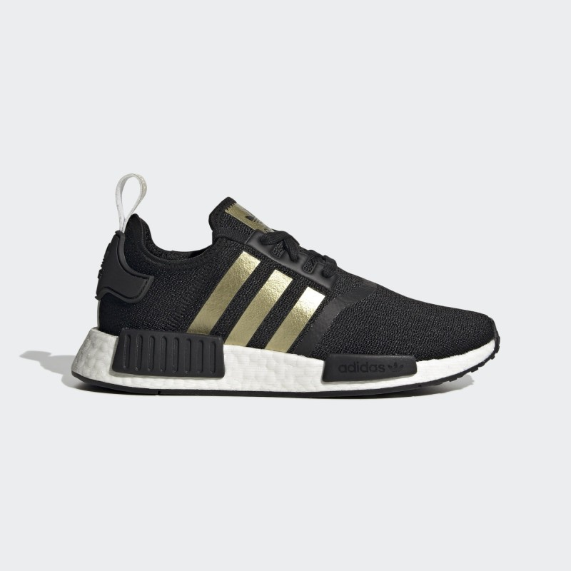 Adidas NMD_R1 Chaussures Core Noir/Or Metallic/Cloud Blanche FX8833