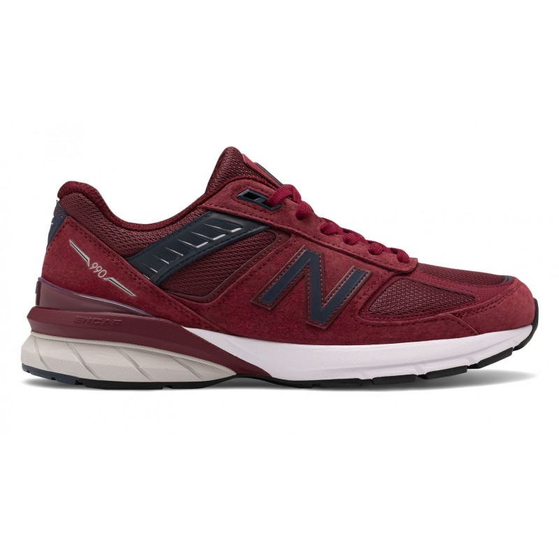 New Balance Made in US 990v5 M990BU5 Bordeaux Avec Marine
