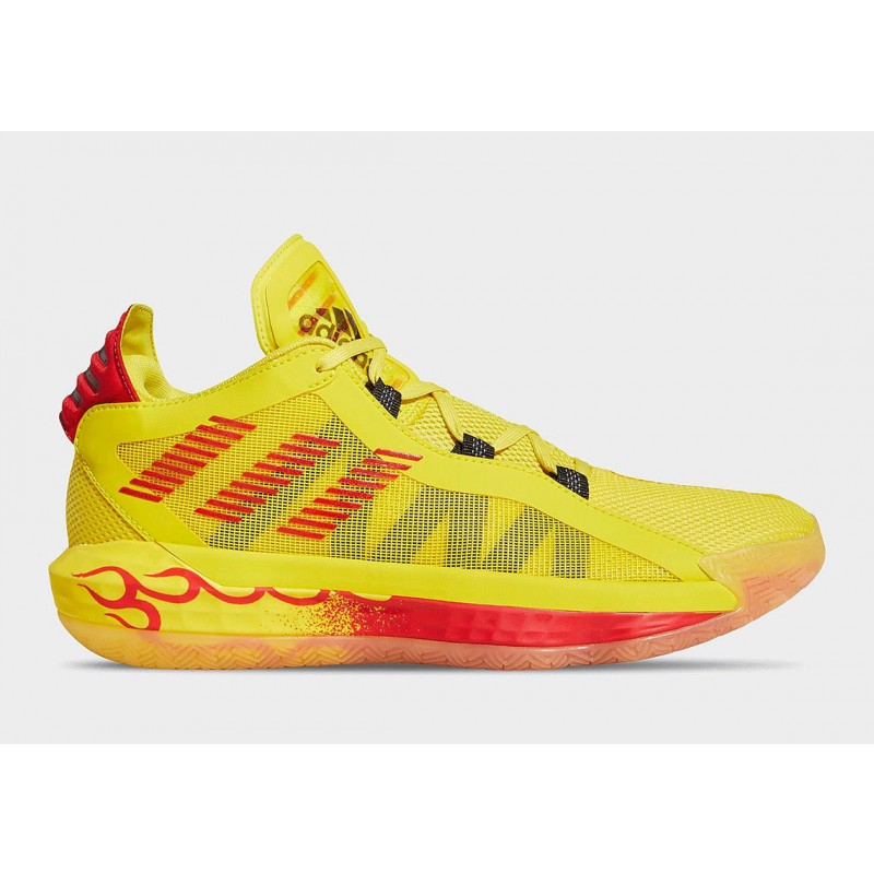 "adidas Dame 6 ""Hot Rod"" Team Jaune/Noir/Scarlet FW8498"