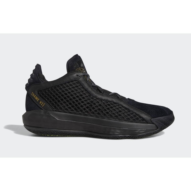 adidas Dame 6 Leather Noir/Or Metallic/Noir FV8627